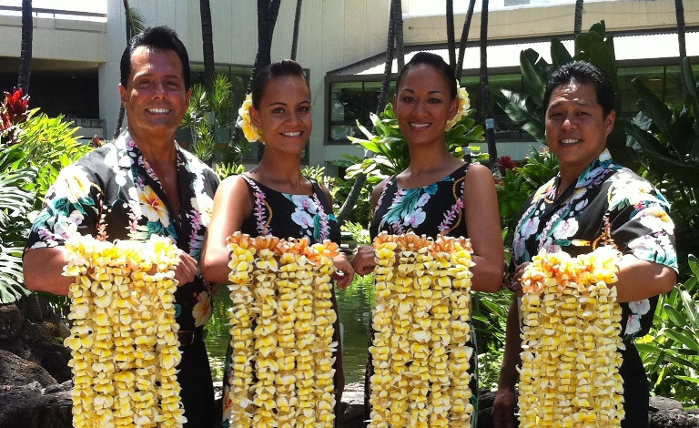 Honolulu Airport Lei Greeting