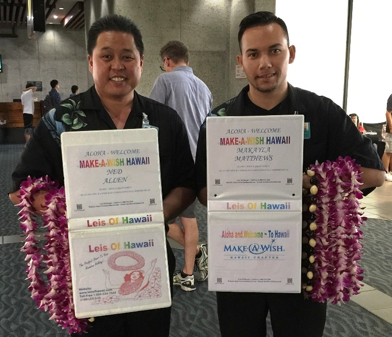 Leis Of Hawaii ~ Welcomes Make A Wish Hawaii
