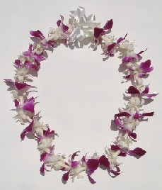 Standard Upgrade ~ Single Tuberose & Sonia Orchid Lei